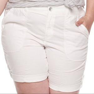 16W, 20W, 24W 😊 white utility Bermuda shorts